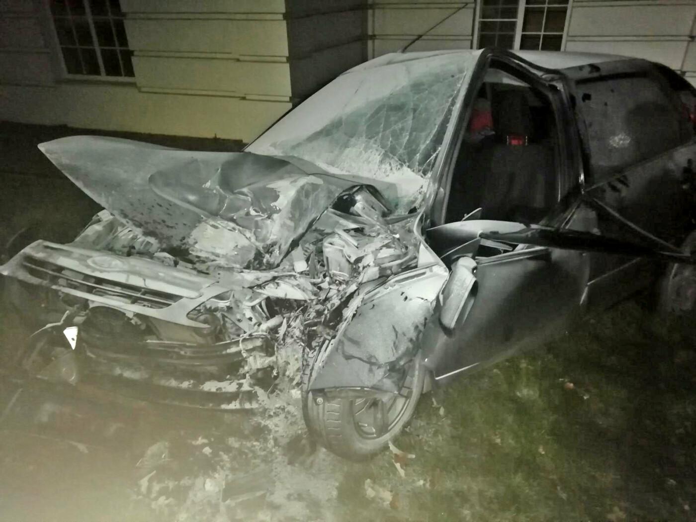 На трассе «Тамбов-Пенза» легковушка влетела в фонарный столб: водитель в больнице, фото-1