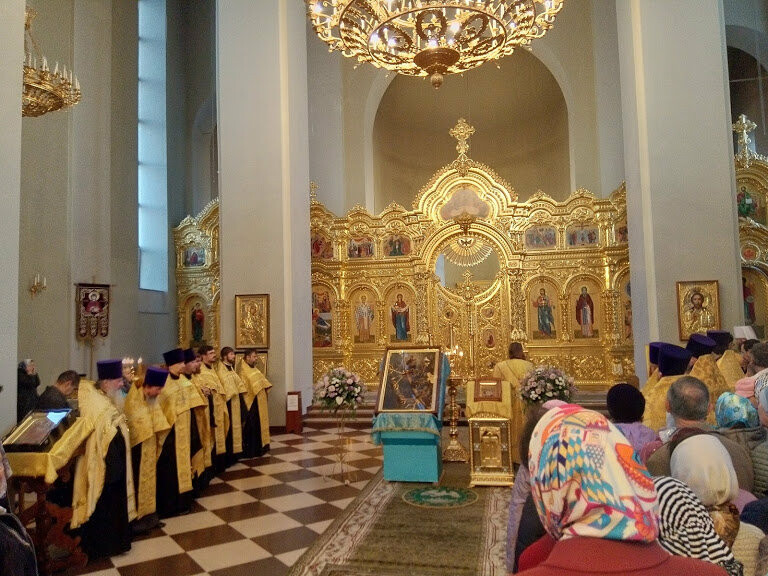 Православные тамбовчане встретили чудотворный образ иконы Божией Матери «Всех скорбящих Радость», фото-5