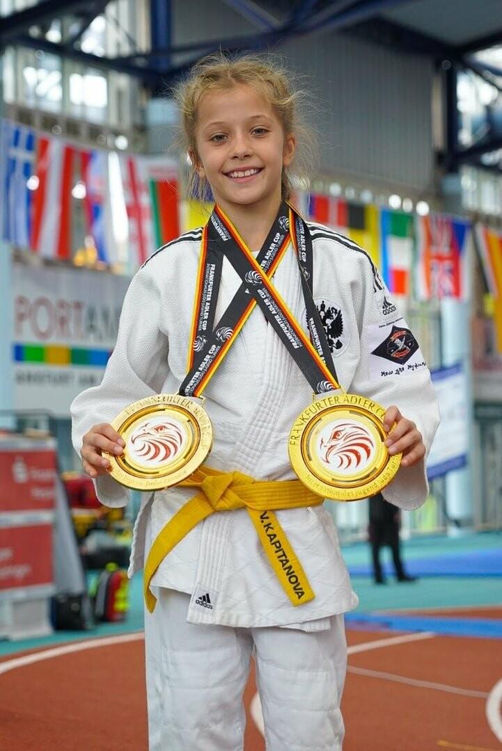 Юная мичуринская дзюдоистка привезла два «золота» турнира в Германии , фото-1