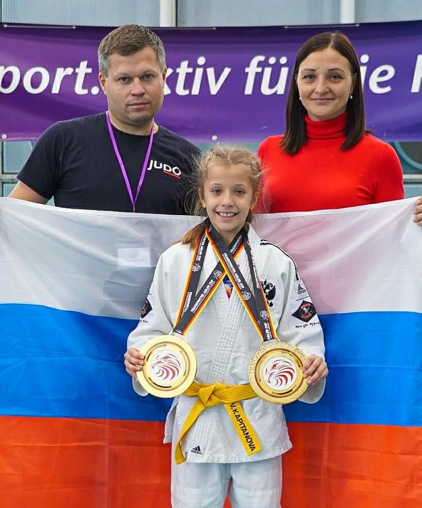 Юная мичуринская дзюдоистка привезла два «золота» турнира в Германии , фото-2
