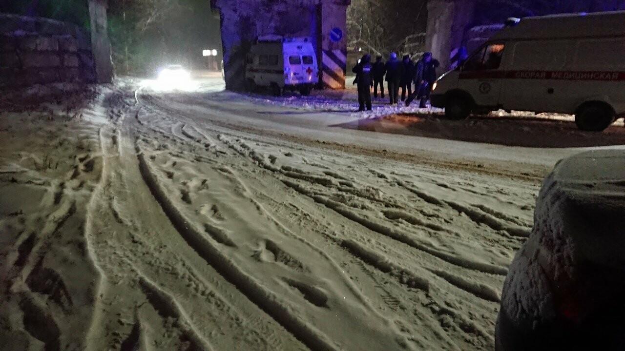 В Котовске автомобиль скорой помощи въехал в опору моста: видео, фото-1