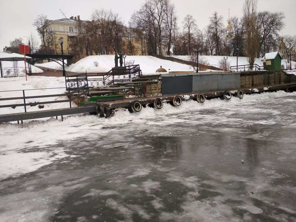 В Тамбове на Набережной начали подготовку купелей, фото-3