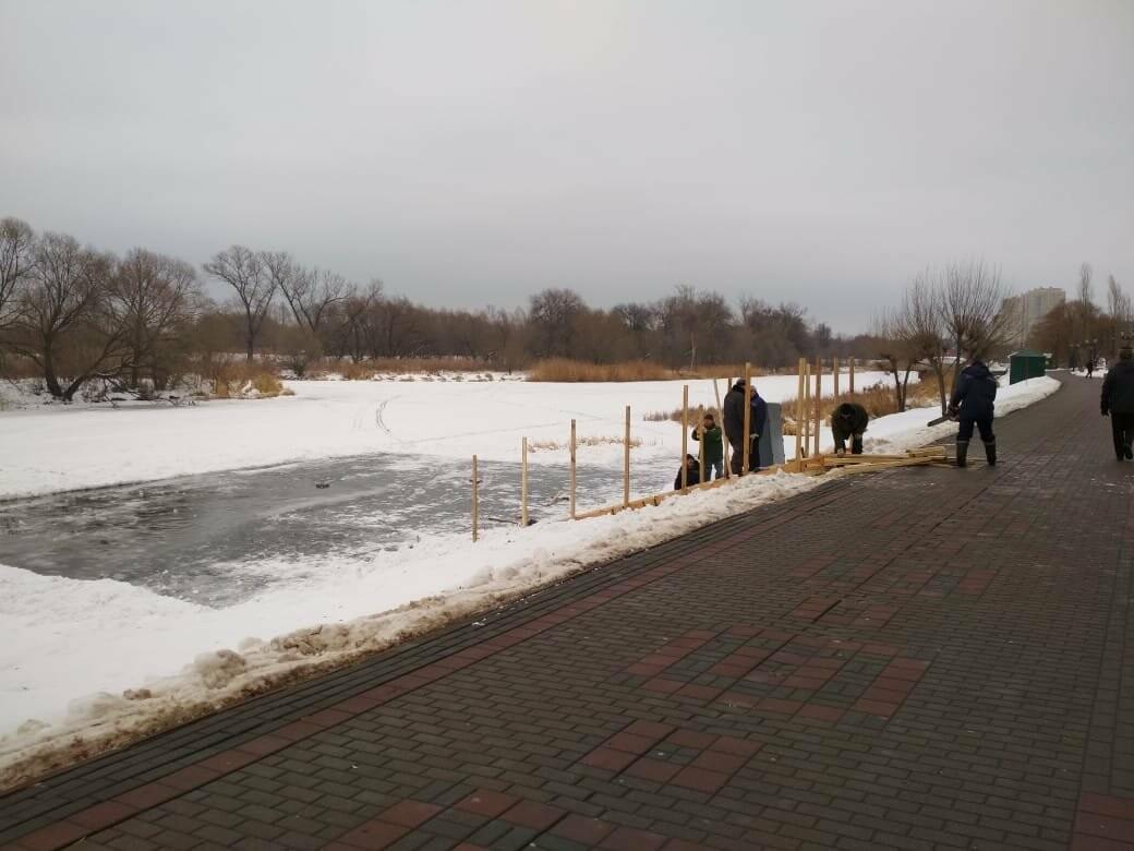 В Тамбове на Набережной начали подготовку купелей, фото-1