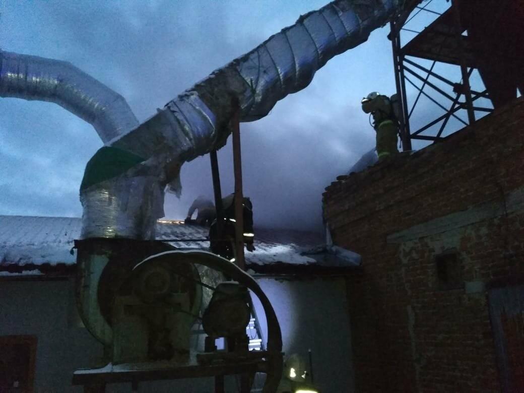 В Тамбове на Бастионной загорелся склад с пиломатериалами на площади 400 кв.м.: видео, фото-5