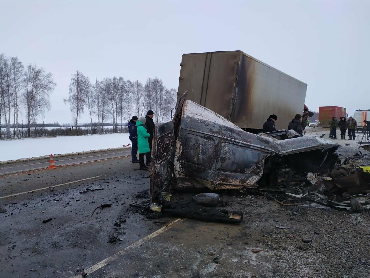 Шесть человек погибли в ДТП на трассе в Тамбовской области: видео, фото-7