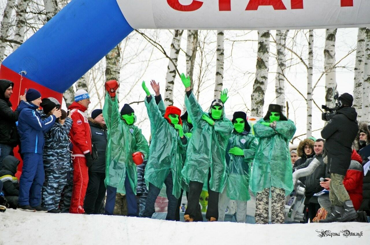 Второй фестиваль «Лысогорские санки» под Тамбовом посетили Баба-Яга и инопланетяне, фото-15