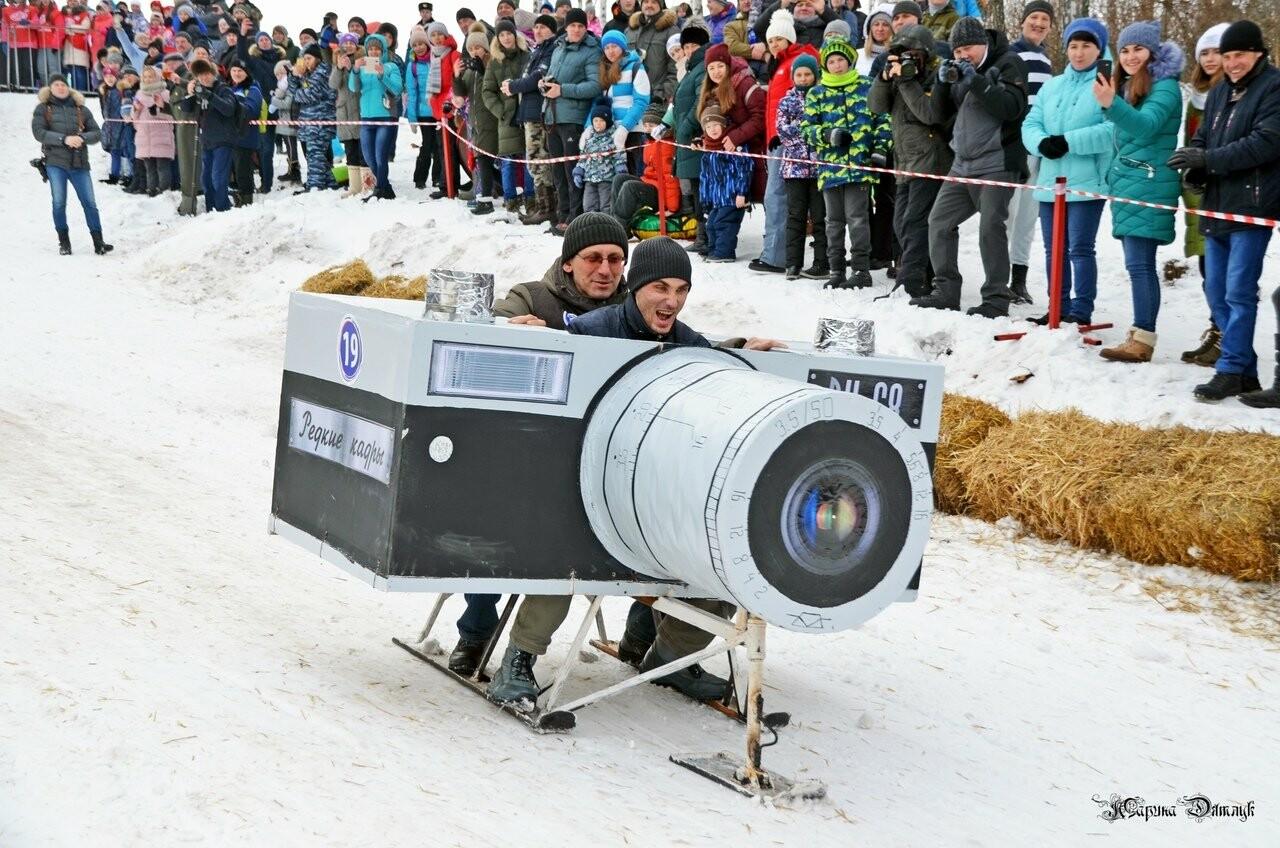 Второй фестиваль «Лысогорские санки» под Тамбовом посетили Баба-Яга и инопланетяне, фото-17
