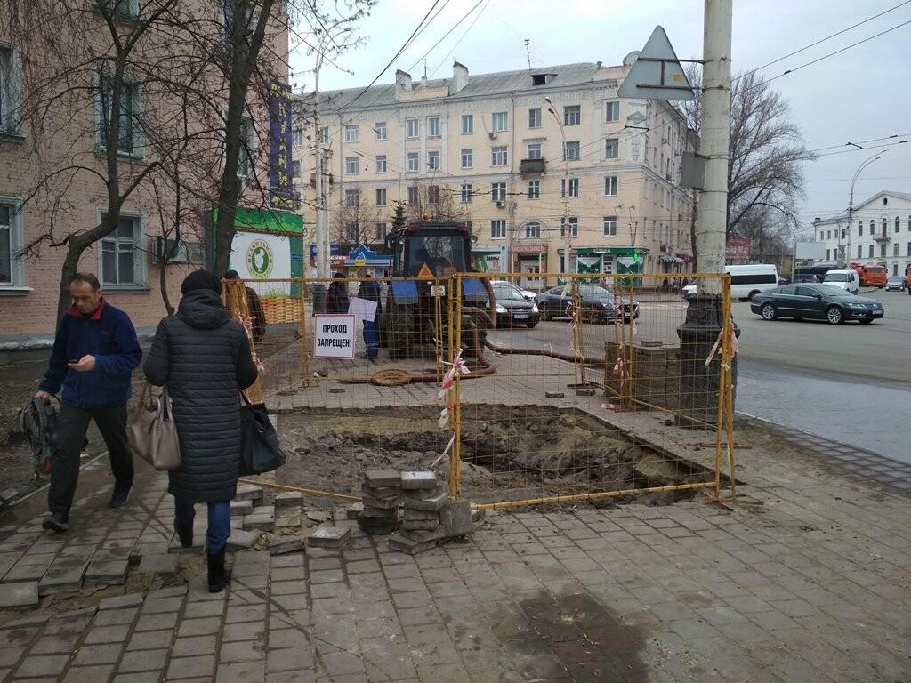 В центре Тамбова снова крупная коммунальная авария, фото-3