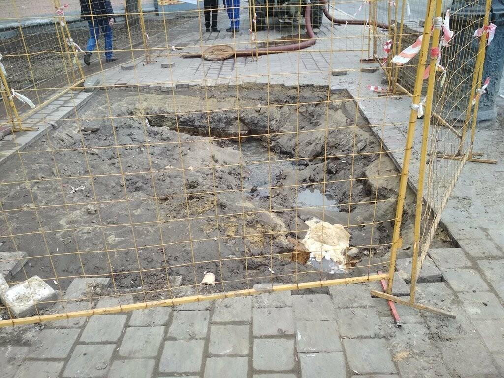 В центре Тамбова снова крупная коммунальная авария, фото-2