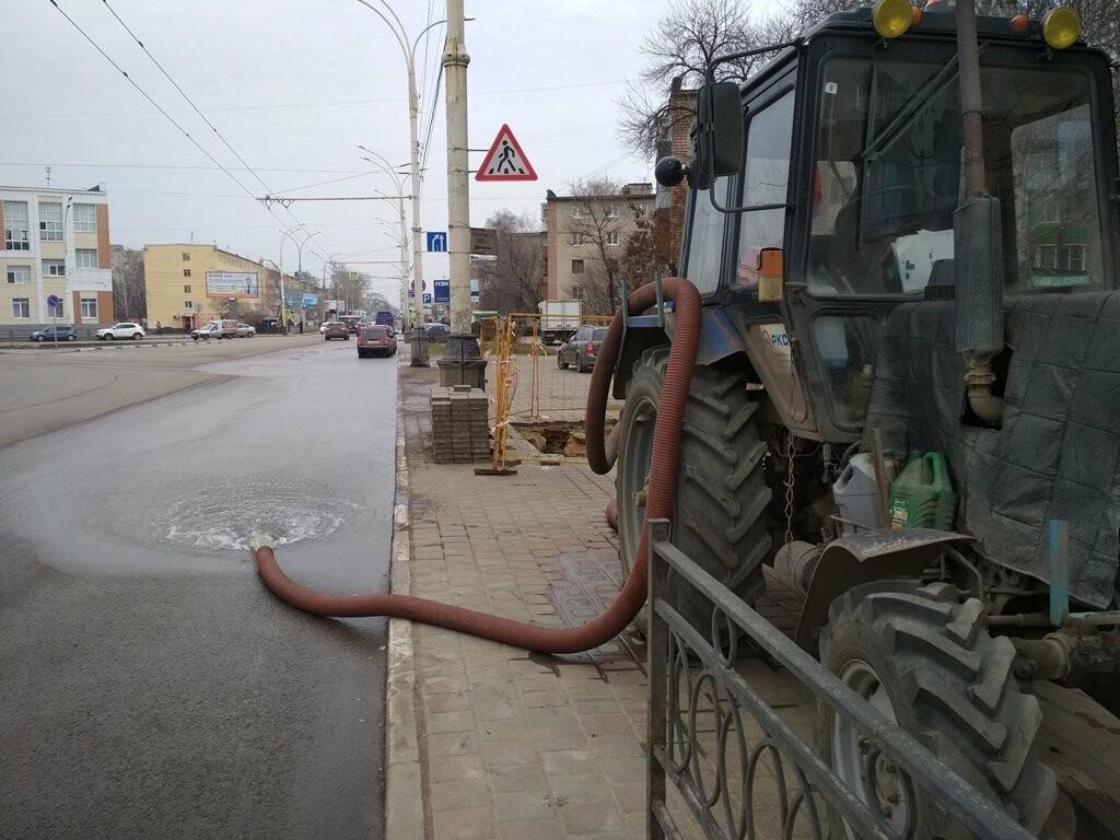 В центре Тамбова снова крупная коммунальная авария, фото-1