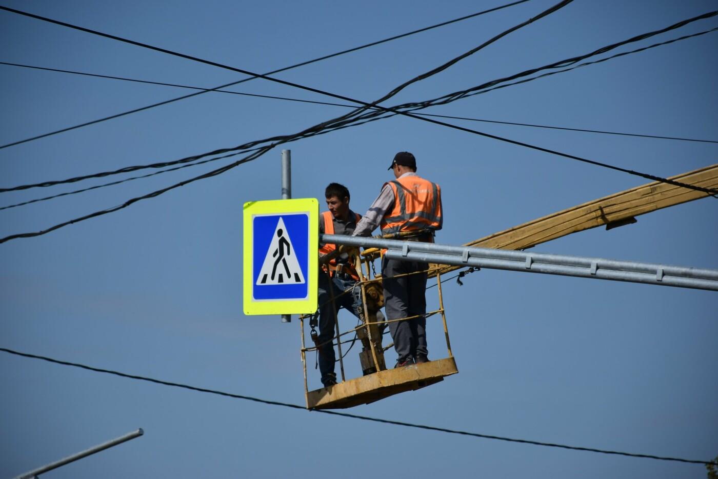 В Тамбове на улице Авиационной устанавливают новый светофор, фото-8