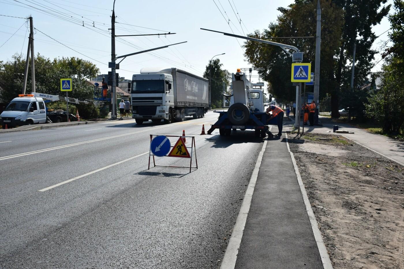 В Тамбове на улице Авиационной устанавливают новый светофор, фото-9