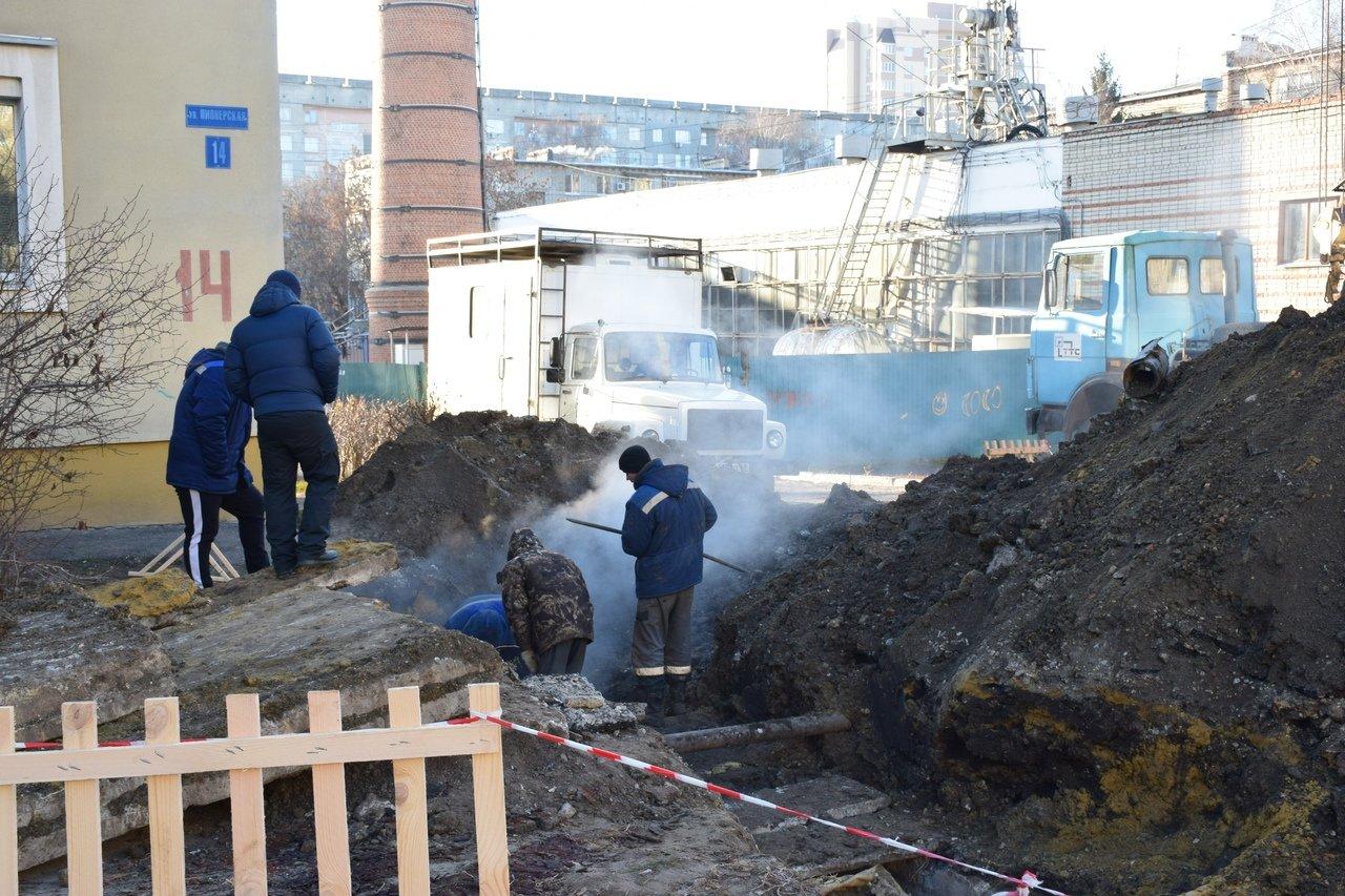 Социальные учреждения на юге Тамбова подключили к системе теплоснабжения после серьезной аварии на трубопроводе, фото-5