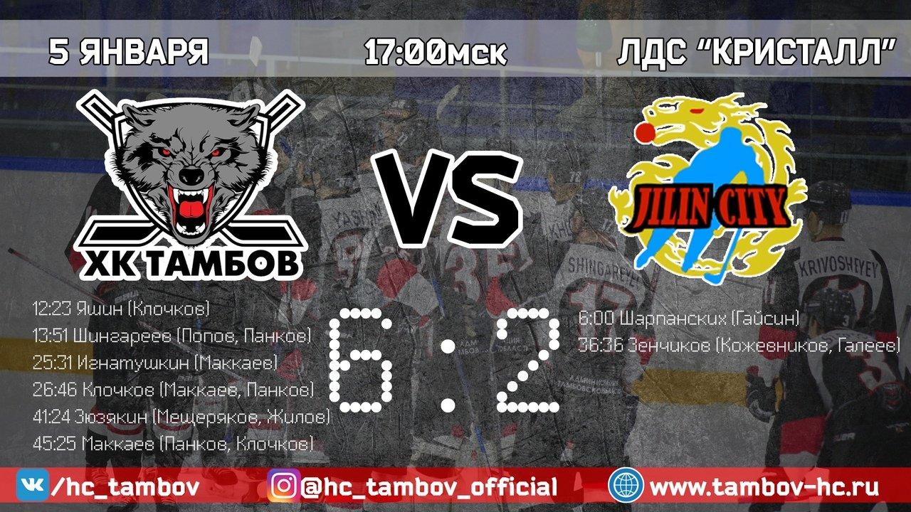 ХК «Тамбов» начал год с крупной победы над аутсайдером, фото-1