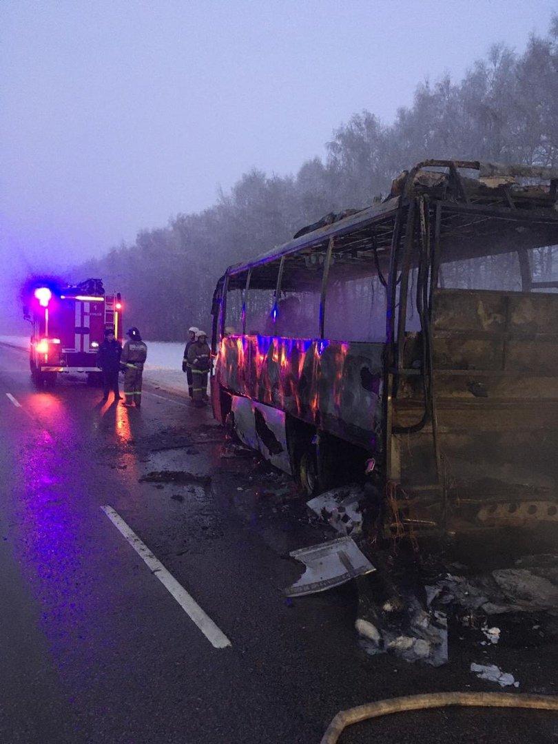 В Тамбовской области на трассе сгорел пассажирский автобус, фото-2