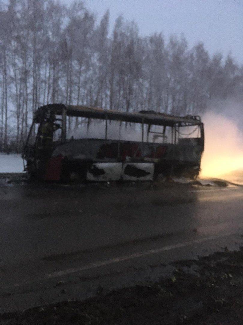 В Тамбовской области на трассе сгорел пассажирский автобус, фото-3