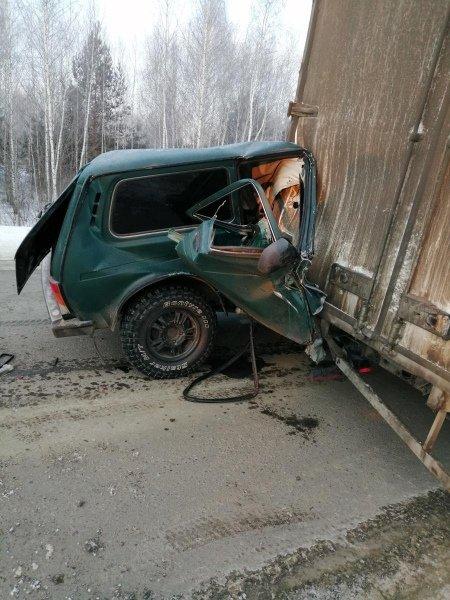 В Бондарском районе «Нива» влетела в сломавшуюся «ГАЗель»: два человека госпитализированы, фото-1