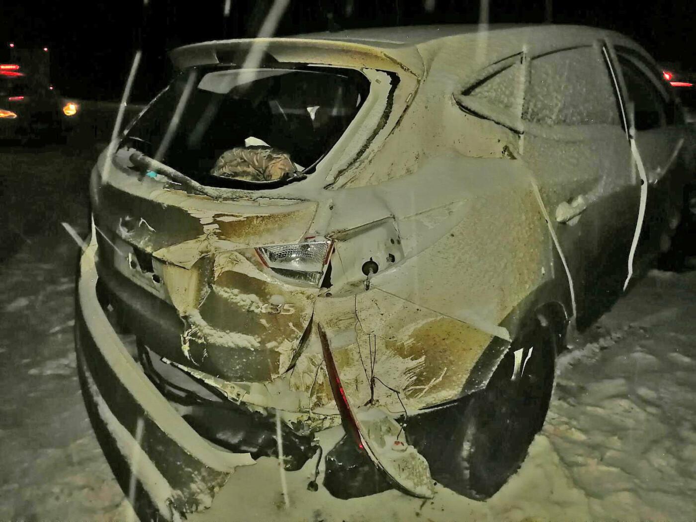 Снегопад в Тамбовском районе стал причиной двух ДТП с пострадавшими на одном участке трассы Р-22, фото-2
