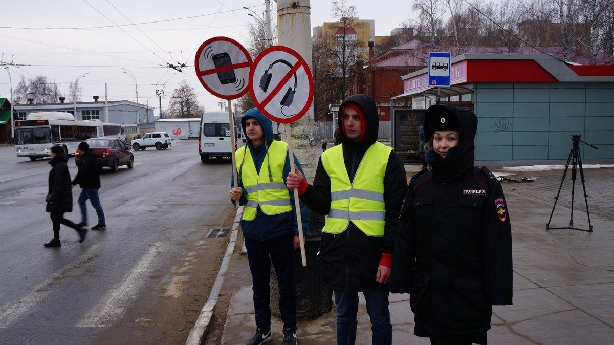 На «зебру» без наушников: в Тамбове предупреждали пешеходов, фото-3