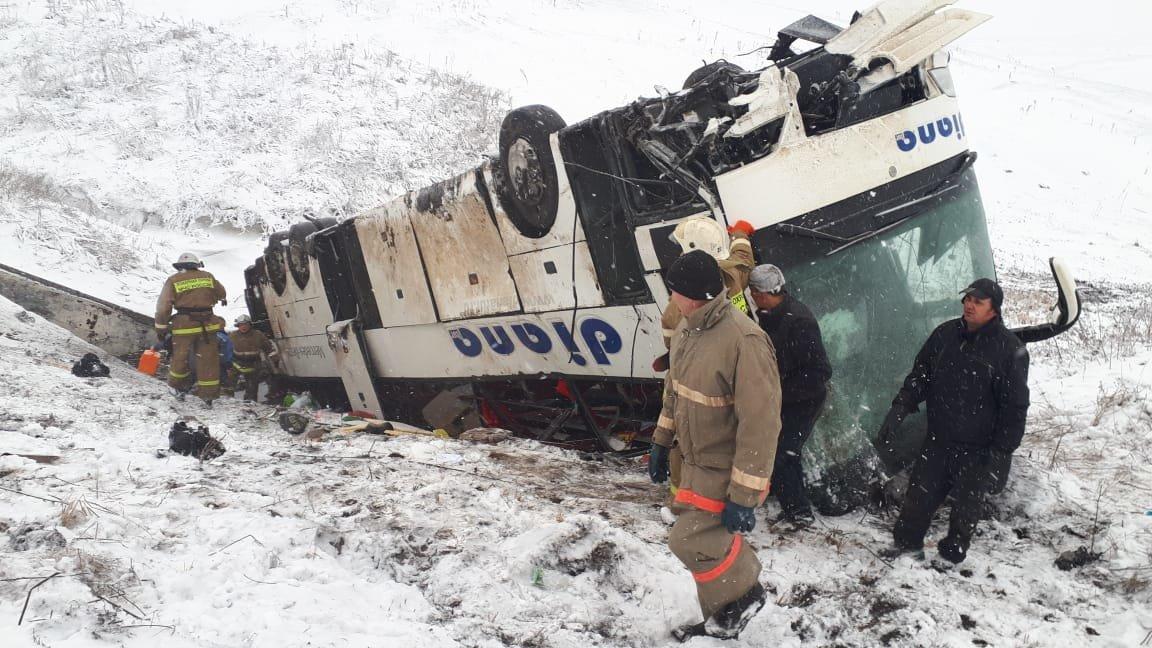 В Тамбовской области на федеральной трассе Р-22 перевернулся рейсовый автобус: двое погибли, еще 18 пострадали, фото-3