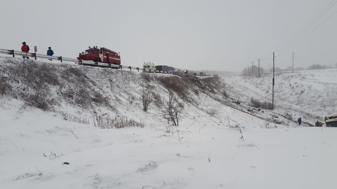 В Тамбовской области на федеральной трассе Р-22 перевернулся рейсовый автобус: двое погибли, еще 18 пострадали, фото-8