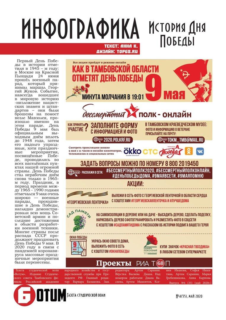 """Студент Тамбовского филиала РАНХиГС рассказал о коллективной работе над студенческой газетой """"Votum"""", фото-2"""
