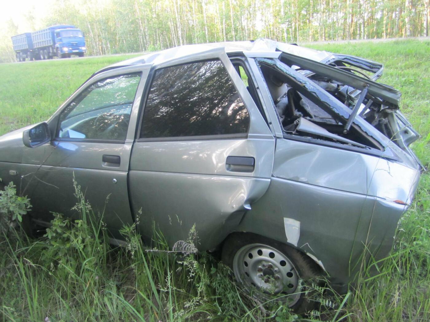 Молодой водитель не справился с управлением и вылетел с федеральной трассы в Тамбовской области, фото-2