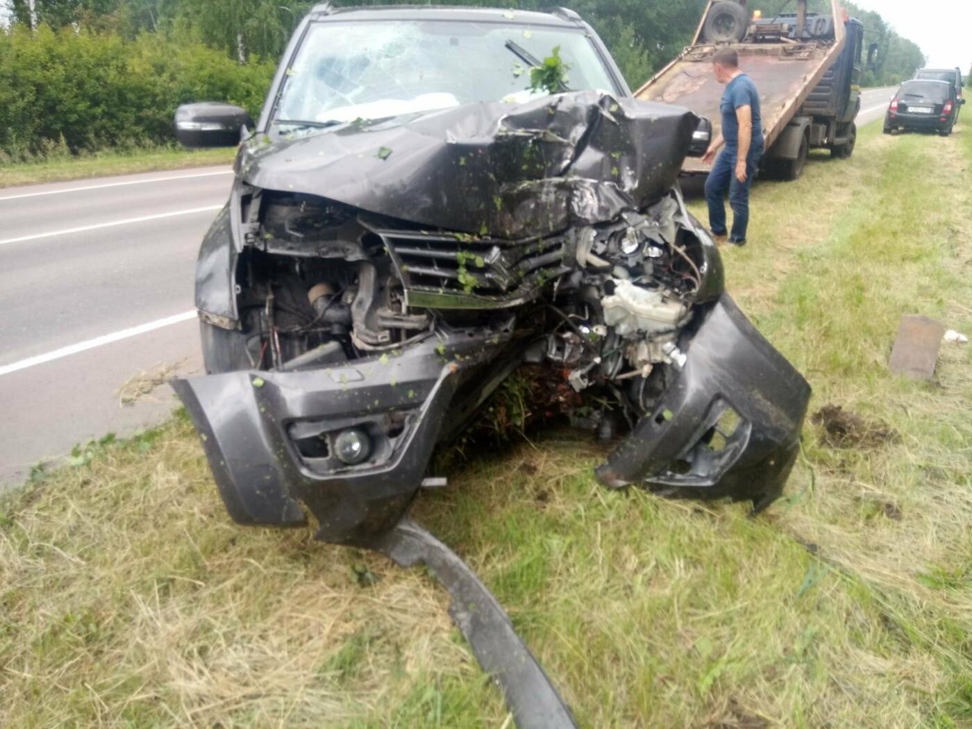 В Тамбовском районе автомобиль врезался в дерево: пострадали четверо, фото-1
